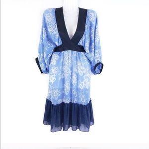 Anthropologie lotus tie back kimono dress